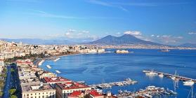 Naples and its bay A